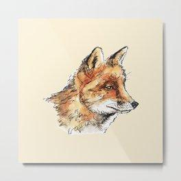 Fox Casual Metal Print
