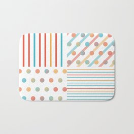 Simple saturated pattern Bath Mat