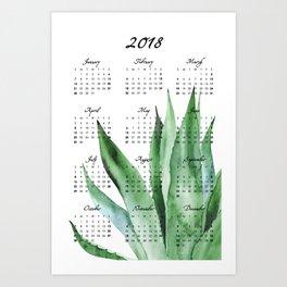 Wall Calendar 2018 Art Print