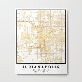 INDIANAPOLIS INDIANA CITY STREET MAP ART Metal Print