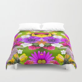 Flower mess - Pink Chaos Duvet Cover