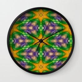 Mardi Gras stars #4509 Wall Clock