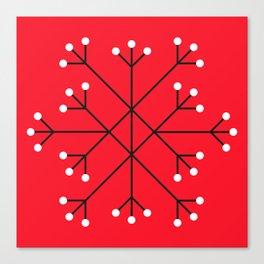 Mod Snowflake Dark Cherry Canvas Print