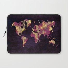 world map 86 red yellow Laptop Sleeve