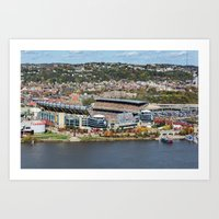 steelers Art Prints featuring Heinz Field During a Steelers Game by Dreamcatcher Photography
