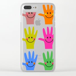 Happy Hands Clear iPhone Case