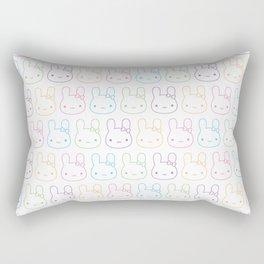 Kawaii Pastel Bunny Bows Rectangular Pillow