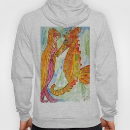 Sarah Mermaid and Kenneth Seahorse Hoody