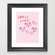Lovely angry girl club Framed Art Print
