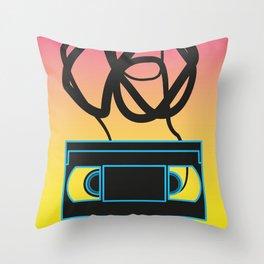 80's problems: VHS Throw Pillow