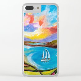 Idyllic Lakeview Clear iPhone Case