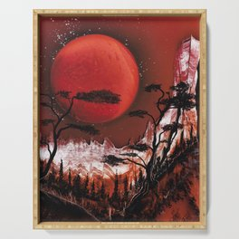 Red Moon Serving Tray