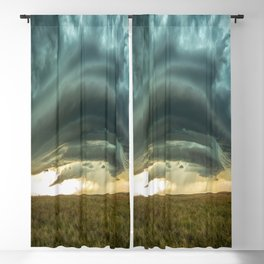 Filling the Void - Layered Storm in Western Nebraska Blackout Curtain