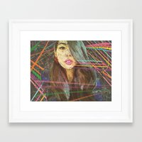 charmaine olivia Framed Art Prints featuring Olivia by Elias Zacarias