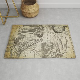 Out of Africa vintage wildlife art Rug