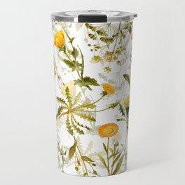 Vintage & Shabby Chic - Yellow Wildflowers Travel Mug