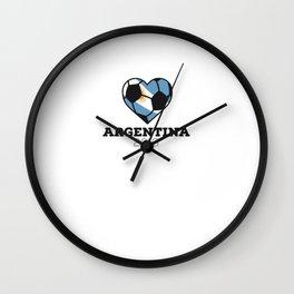 Argentina Soccer Shirt 2016 Wall Clock
