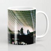 washington dc Mugs featuring Union Station, Washington DC by Mt Zion Press
