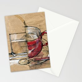 Red Mug Stationery Cards