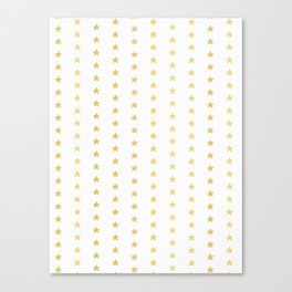 Luxe Gold Tiny Christmas Stars Confetti, Drawn Seamless Vector Pattern Canvas Print