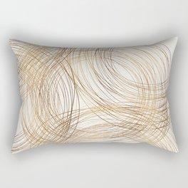 Metallic Circle Pattern Rectangular Pillow