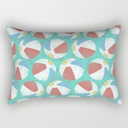 Retro Beachballs Rectangular Pillow