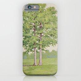 Vintage Print - Familiar Trees and Leaves (1911) - Liquidambar iPhone Case