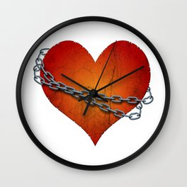chained heart Wall Clock