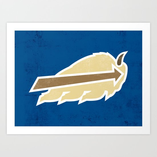 Buffalo Sky Bisons Art Print