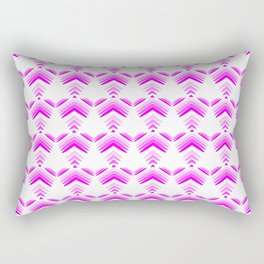 Pastel pattern of pink hearts and flowers on a white background. Rectangular Pillow