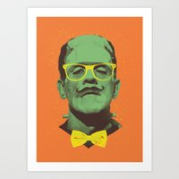 frank Art Prints featuring Mr Frank by Victor Vercesi