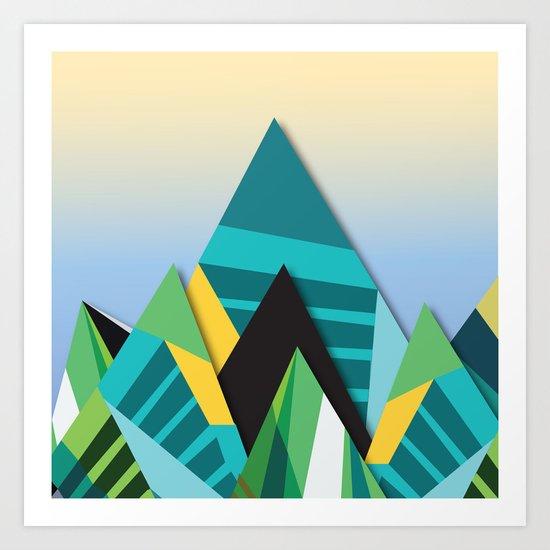 Cosmic Mountains No. 2 Art Print