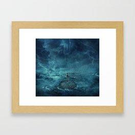 Lost in the ocean Framed Art Print