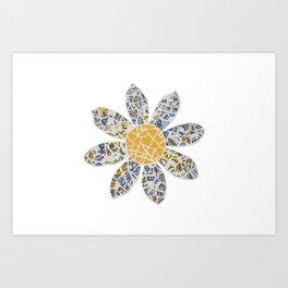 Mosaic Flower 002 Art Print