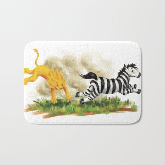 Lion & Zebra Bath Mat