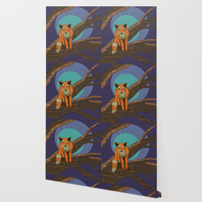 Fox at night Wallpaper