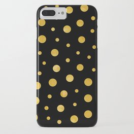 Elegant polka dots - Black Gold iPhone Case