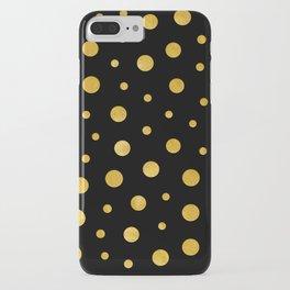 Elegant polka dots - Black Gold iPhone Case