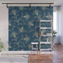 Dark Teal Elegance Wall Mural