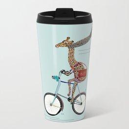 Giraffes School Days  Metal Travel Mug