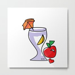 Juicing Metal Print