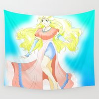 manga Wall Tapestries featuring Manga Character by OrbitalSwan