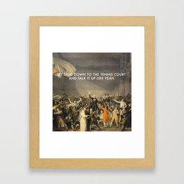 Tennis Court Oath Framed Art Print