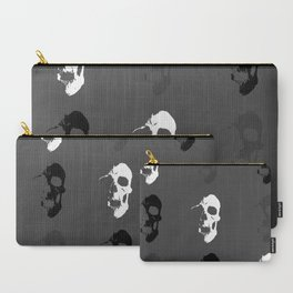 Skull 3x3 - White/Grey/Black Carry-All Pouch