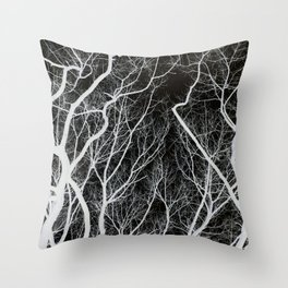 Abstract Tree Branches Throw Pillow