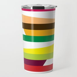 Geometric Pattern 73 (colorful stripes) Travel Mug