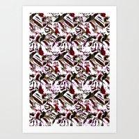 tigers Art Prints featuring Tigers by fredari