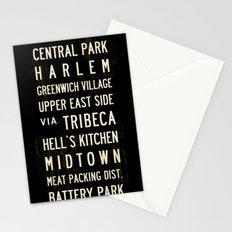 NYC Transit Sign Stationery Cards