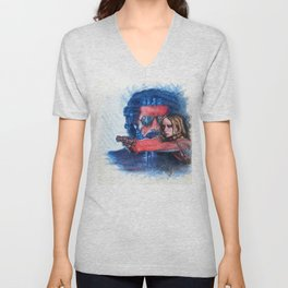 'Rush' film poster - Drawing in colour pencil Unisex V-Neck