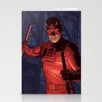 daredevil Stationery Cards featuring Daredevil by Arne AKA Ratscape